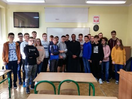 Wizyta misjonarza w naszej szkole