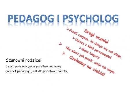 PRACA ZDALNA PEDAGOGA I PSYCHOLOGA SZKOLNEGO