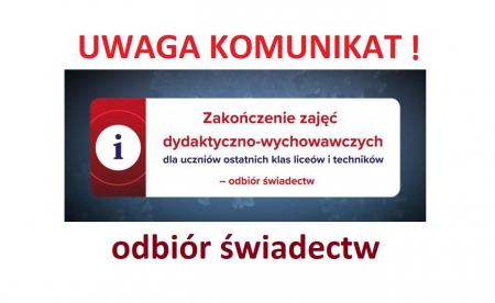 Zakończenie szkoły dla klas IV Technikum Nr 1 im. Noblistów Polskich w Zespol