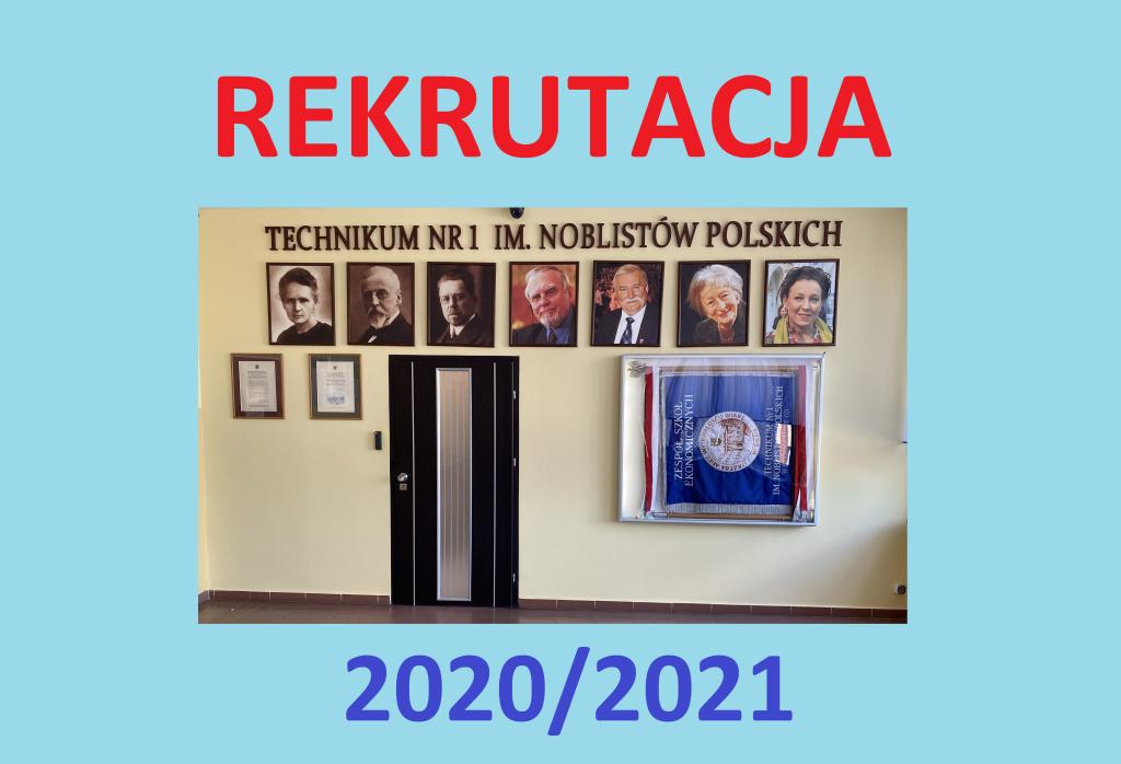 Rozpoczynamy Rekrutację na rok szkolny 2020-2021
