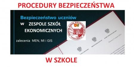 Procedury bezpieczeństwa z ZSE w związku z zagrożeniem COVID-19